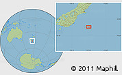 "Savanna Style Location Map of the area around 46°34'35""S,173°28'29""E"