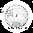 "Outline Map of the Area around 46° 34' 35"" S, 173° 28' 29"" E, rectangular outline"
