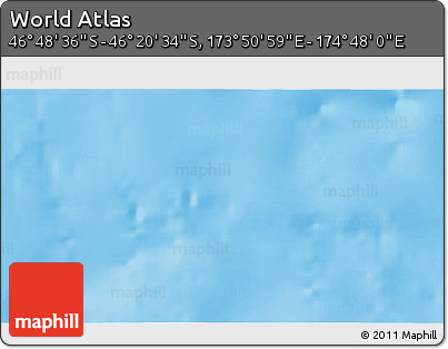 """Shaded Relief 3D Map of the Area around 46°34'35""""S,174°19'29""""E"""