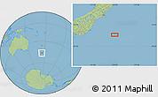 "Savanna Style Location Map of the area around 46°34'35""S,174°19'29""E"