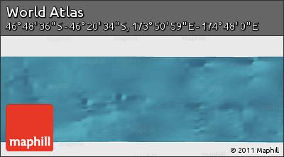 "Satellite Panoramic Map of the Area around 46°34'35""S,174°19'29""E"
