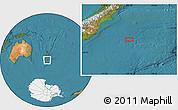 "Satellite Location Map of the area around 46°34'35""S,175°10'30""E"