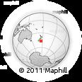 "Outline Map of the Area around 46° 34' 35"" S, 175° 10' 30"" E, rectangular outline"