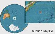 "Satellite Location Map of the area around 46°34'35""S,176°1'30""E"