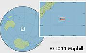 "Savanna Style Location Map of the area around 46°34'35""S,176°1'30""E"