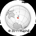 "Outline Map of the Area around 46° 59' 36"" S, 172° 37' 30"" E, rectangular outline"