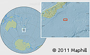 """Savanna Style Location Map of the area around 46°59'36""""S,173°28'29""""E, hill shading"""