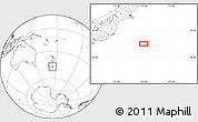 """Blank Location Map of the area around 46°59'36""""S,174°19'29""""E"""