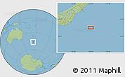 "Savanna Style Location Map of the area around 46°59'36""S,174°19'29""E"