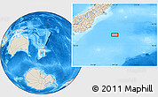 """Shaded Relief Location Map of the area around 46°59'36""""S,174°19'29""""E"""
