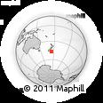 "Outline Map of the Area around 46° 59' 36"" S, 174° 19' 29"" E, rectangular outline"