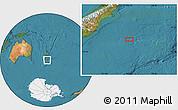 "Satellite Location Map of the area around 46°59'36""S,175°10'30""E"