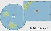 "Savanna Style Location Map of the area around 46°59'36""S,175°10'30""E"