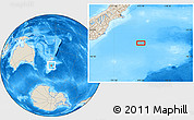 """Shaded Relief Location Map of the area around 46°59'36""""S,175°10'30""""E"""