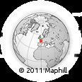 Outline Map of Cholet, rectangular outline