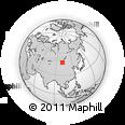 Outline Map of Tsetserleg, rectangular outline