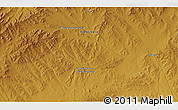 """Physical 3D Map of the area around 47°16'15""""N,107°10'30""""E"""
