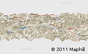 Shaded Relief Panoramic Map of Innsbruck