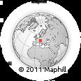 Outline Map of Kirchdorf, rectangular outline