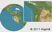 """Satellite Location Map of the area around 47°16'15""""N,122°19'29""""W"""