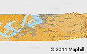 """Political Panoramic Map of the area around 47°16'15""""N,122°19'29""""W"""