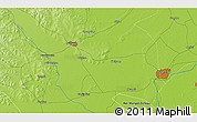 """Physical 3D Map of the area around 47°16'15""""N,123°19'29""""E"""