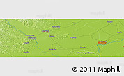 """Physical Panoramic Map of the area around 47°16'15""""N,123°19'29""""E"""