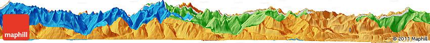 "Political Horizon Map of the Area around 47° 16' 15"" N, 12° 49' 29"" E"