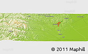 Physical Panoramic Map of Hegang