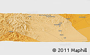 Political Panoramic Map of Hegang
