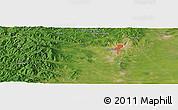 Satellite Panoramic Map of Hegang