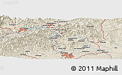 Shaded Relief Panoramic Map of Graz
