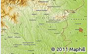Physical Map of Szombathely