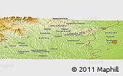Physical Panoramic Map of Szombathely