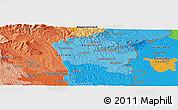 Political Panoramic Map of Szombathely