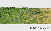 Satellite Panoramic Map of Szombathely
