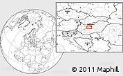 Blank Location Map of Székesfehérvár