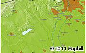 Physical Map of Lágymányos