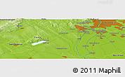 Physical Panoramic Map of Lágymányos