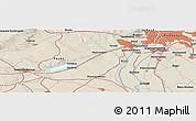 Shaded Relief Panoramic Map of Székesfehérvár