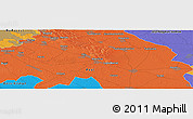 """Political Panoramic Map of the area around 47°16'15""""N,19°37'30""""E"""