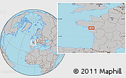 Gray Location Map of Nantes