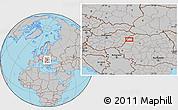 Gray Location Map of Oradea