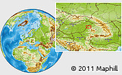 Physical Location Map of Oradea