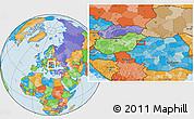 Political Location Map of Oradea
