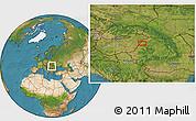Satellite Location Map of Oradea