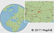 Savanna Style Location Map of Oradea