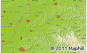 Physical Map of Oradea