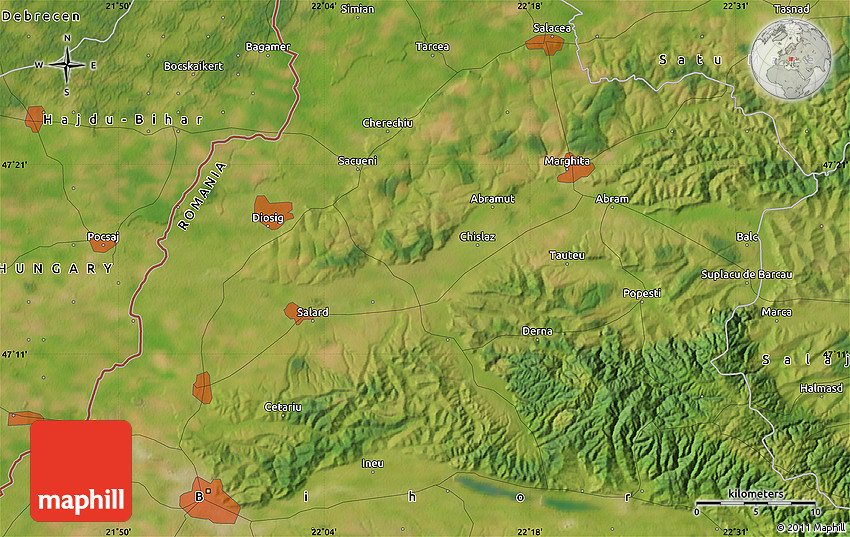 Satellite Map of Oradea