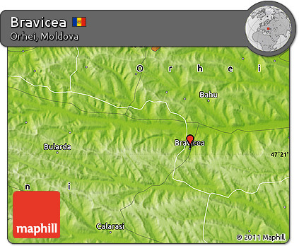 Physical Map of Bravicea